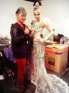 Hair World cup with artist from Taiwan: Kok Alexandar
