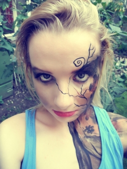 """Die Sucht"" Music Video , Facepainting Lena Pock"